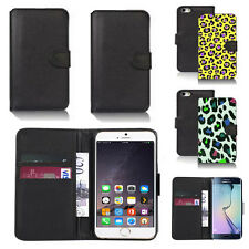 pu leather wallet case cover for apple iphone models design ref q115