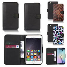 pu leather wallet case cover for apple iphone models design ref q114
