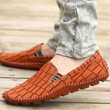 Mens Loafers Slip on Casual Moccasins Driving Gommino Boat Soft Leather Shoes sz