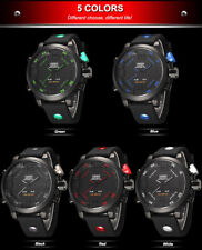 Military Sports LED Quartz Watch 5ATM Water Resistant Big Dial Date Week Alarm