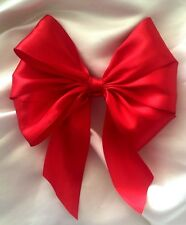 """3 X Red, Silver or Gold Christmas large 6""""  bows, gift bows, xmas tree bows etc."""