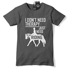 No Therapy Just need HORSE RIDING Tshirt Show Jumping Girls Boys Equestrian 450