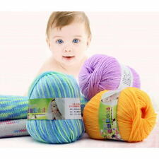 1 x Skein Natural Cotton Silk Baby Sweater Soft Yarn Knitting Hand Knitting 50g