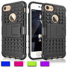 Heavy Duty Defender Hybrid Shockproof W/Kickstand Tank Case Cover for iPhone 7