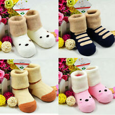 Unisex Baby Kids Care Soft Cotton Terry Toddler Infant Cute Socks Stocking New