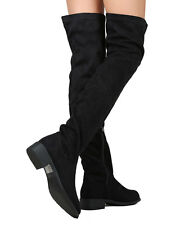 New Nature Breeze Olympia-20 Women Faux Suede Thigh High Riding Boot
