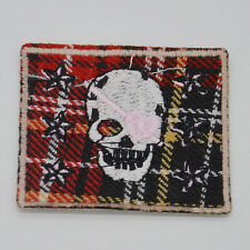 knitting skull Embroidery Ironon patch sewn For clothes applique badge Hat Motif