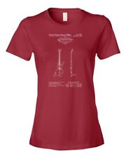 Gibson Futura Electric Guitar Patent Art Womens T-Shirt Player Guitarist Teacher