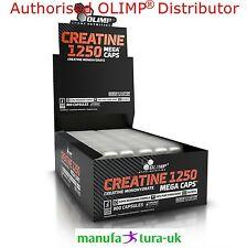 OLIMP Creatine Monohydrate Mega Caps 1250mg Boost Strength & Muscles + Free Gift