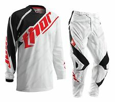 NEW Thor Kids MX Gear Phase Vented Black White Youth Motocross Pants FREE JERSEY