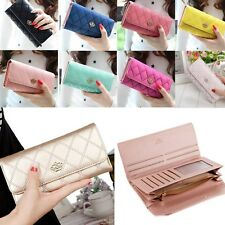 Fashionable Female Ladys PU Leather Clutch Wallet Long Card Holder Purse Handbag