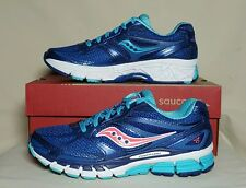 SAUCONY WOMEN GUIDE 8 RUNNING BLUE/NAVY/CORAL NEW/BOX MULTIPLE SIZES S10256-7