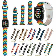 3pcs Silicone Replacement Wrist Band Bracelet Strap For Apple Watch 1/2 38/42mm