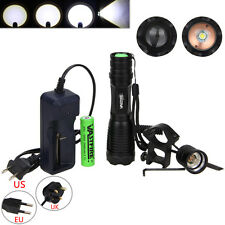 CREE XM-L T6 LED Zoomable 5000Lm 18650 Rechargeable Battery Flashlight Torch