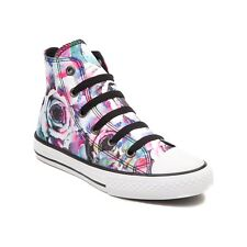 NEW Youth Converse Chuck Taylor All Star Hi Big Roses Sneaker Pink Kids Girl
