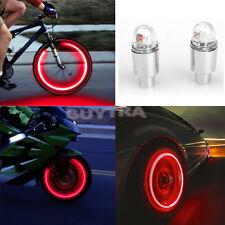 2 x LED Neon Car Bike Wheel Tire Tyre Valve Dust Cap Spoke Lights Cool JS