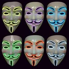 "*Super offer* L.E.D. GLOW "" V "" for Vendetta Mask /Halloween / guy fawkes mask"