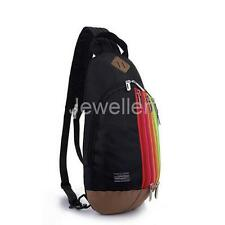 Rainbow Outdoor Travel Shoulder Cross-body Bag Sling Messenger Pack Backpack