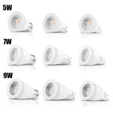 5W/7W/9W Ultra Bright Lamp MR16/GU10/E27/ Dimmable COB Spot Light White LED Bulb