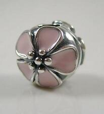 Authentic Pandora NEW Bead Silver Cherry Blossoms Clip Stopper charm 791041EN40