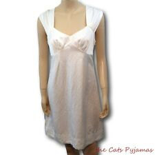 CUE Creamy White Dress 10 Polished linen Exposed zip