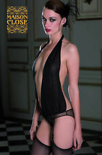 Maison Close Music Hall Draped Panty Bodysuit with Suspenders