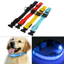 Night LED Puppy Flashing Glow Light Tags Adjustable Collar Pendant For Pet Dog