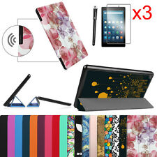 Amazon Fire HD 8 2016 Release 6th Generation Case Cover + 3pcs Screen Protector