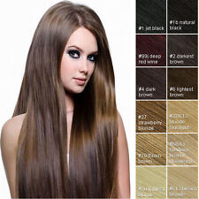 """Clip In 100% Real Remy Human Hair Extensions Full Head 16""""18""""20""""22""""24"""""""