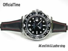 OT Genuine Bull Leaher Strap / Band fits Rolex Daytona / Sea-Dweller / Datejust