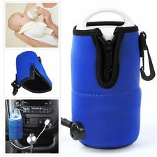 Portable Baby Food Milk Water Bottle Cup Warmer Heater For Auto Car Travel