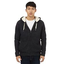 St George By Duffer Mens Dark Grey Quilted Lined Hoodie With Wool From Debenhams