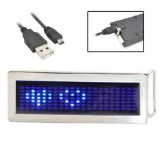 Personalized Programmable DIY Text Flash LED Chrome Scrolling Disc Belt Buckle