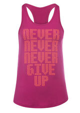 NEW Womens Lorna Jane Activewear Never Give Up Active Tank