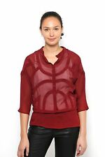 Womens New Fashion Blouse Loose Jumper Pullover Sweater Transparent Tops Casual