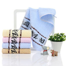 Cute Cartoon Printed Baby Kids Bamboo fiber Towels Children Towel Washcloths