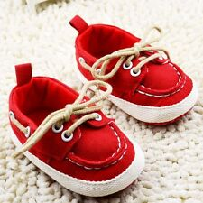 Toddle baby Girl Red Laces Soft Sole crib Shoes Sneaker size 0-18 months infant