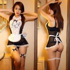 Sexy Women French Maid Lingerie Valentine Costume Cosplay Outfit Fancy Dress LH