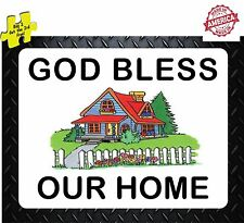 God Bless Our Home Catholic Decal/Stickers