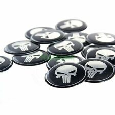 Wheel Center Hub Caps 60mm 20pcs Punisher Emblem Auto Cover Badge Decal Stickers