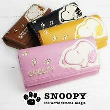 PEANUTS SNOOPY Long Wallet Money Coin Card Case Purse Flap from Japan R1876