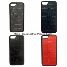 iPhone 7 Luxury Natural Leather Croco Case Brand : Melech + Special Box 4 Colors