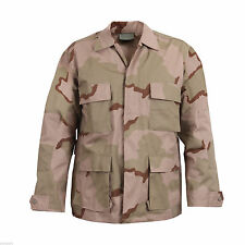 Three Color Desertl Camo BDU Shirt Military Style Camouflage Coat Rothco 8960