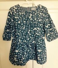NWT 4/5 9/10 or 11/12 Mini Boden Chambray Flower Stamped Tunic Dress