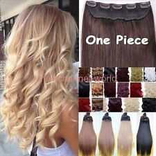 100% Real 1pcs Clip in Half Full Head Hair Extensions Extension as human hair f7