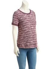 NEW Old Navy Maternity Short Sleeve Knit Sweater Berry color L XL XXL 2XL