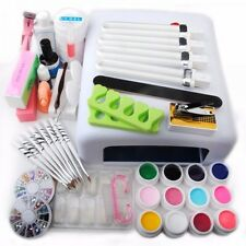 Nail Art Tools Sets 36W UV Lamp + 12 Color UV Gel Nails & Tools Polish Kit