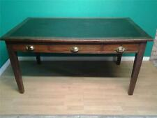 Vintage Arts and & Crafts oak three drawer writing table desk