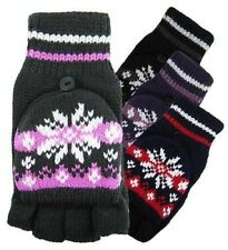 Ladies Ladys Female Womens Mittens With Cap Fair Isle Rockjock Glove Gloves Mitt
