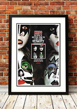 Kiss / Gene Simmons / Ace Frehley - Retro Vintage Rock Band Music Concert Poster